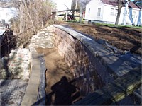Evans Lake Retaining Wall Project